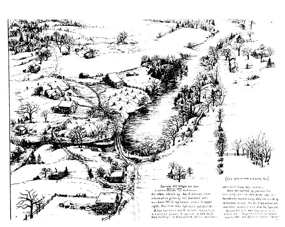 Spruce Hill Drawing, Ada Johnson