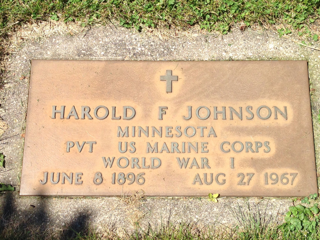 Harold F. Johnson footstone