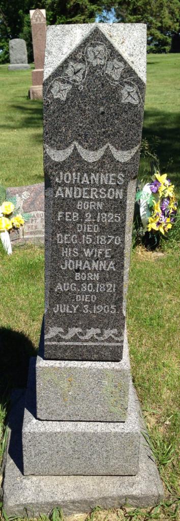 Johannes Anderson headstone