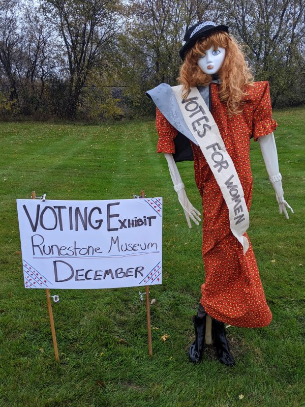 Scarecrow #4, Marg made by the Runestone Museum!